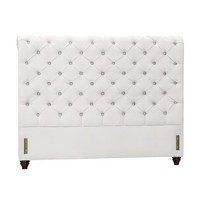 CHESTERFIELD UPHOLSTERED HEADBOARD, QUEEN, PERFORMANCE CANVAS WHITE
