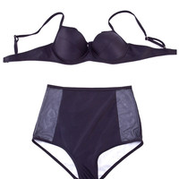 Black High Waisted Bikini Set