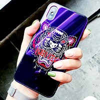 Kenzo New fashion tiger letter print couple protective case phone case