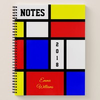 Notes 2018 Colorful Mondrian Style Modern Art Notebook