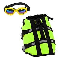 Pet Life Jacket with Goggles