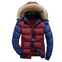 Men's Winter Jacket Thick Warm Hooded Coats Casual Men Jackets Fashion Hoodies Fur Stand Brand Clothing