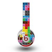 The Neon Colored Building Blocks Skin for the Original Beats by Dre Wireless Headphones