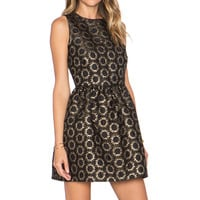 Red Valentino Jaquard Party Dress in Black