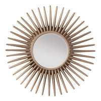 Office Star Ella Beveled Wall Mirror with Silver Pewter Sunbeam Frame [GC1263]