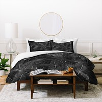 Matt Leyen Feathered Dark Duvet Cover
