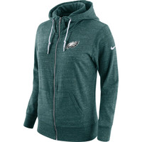 Women's Philadelphia Eagles Nike Midnight Green Tailgate Vintage Full-Zip Hoodie
