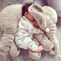 5Color Elephant Soft Automotive Baby Sleep Pillow Baby Crib Foldable Baby Bed Car Seat Cushion Kids Portable Bedroom Bedding Set
