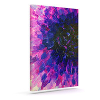 "Ebi Emporium ""Limitless"" Pink Purple Canvas Art"