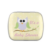 Cute Owl Baby Shower Candy Tin
