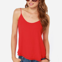 Lucy Love Go To Red Tank Top