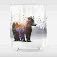A Wilderness Within / Bear Shower Curtain by Soaring Anchor Designs | Society6