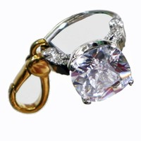 Juicy Couture - Engagement Ring - Gold Plated Clasp Charm