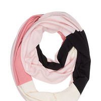Kate Spade Colorblock Infinity Scarf Pastry Pink ONE