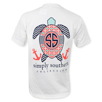 Simply Southern Youth Turtle Anchor T-Shirt - White