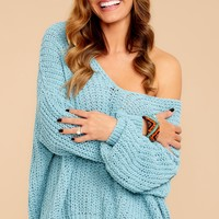 Good Together Porcelain Blue Sweater