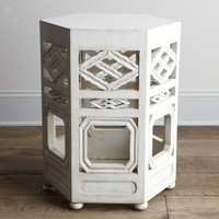 """""""Tobin"""" White Side Table - Horchow"""