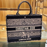 Dior new product color matching printed letters ladies shopping handbag shoulder bag