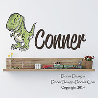 Dinosaur Name Wall Decal