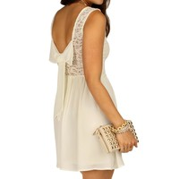 Promo-ivory Bow Back Dress