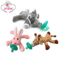 Baby Pacifier Silicone Chupeta Para Bebe Pacifiers With Plush Toy Giraffe Nipple Teat Children Newborn Soother Nipples BPA Free