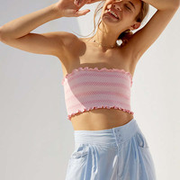 Silence + Noise Smocked Tube Top | Urban Outfitters