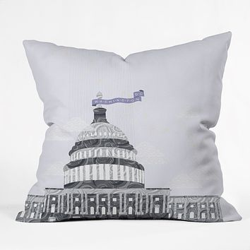Jennifer Hill Washington DC Capitol Building Throw Pillow