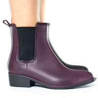 Novato01 Pointed Toe Pull On Chelsea Ankle Women's Rain Boots