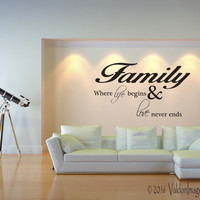Family is everything wall decal, quote wall decal, living room wall decal, word wall decal, living room decor, family wall decal, love decal