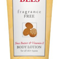 Burt's Bees  Fragrance Free Shea Butter and Vitamin E Body Lotion, 6 Ounces (Pack of 3) (Packaging May Vary)