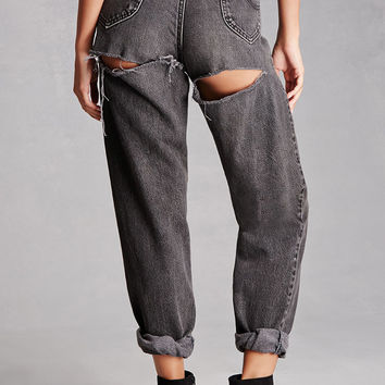 Vintage High-Rise Ripped Jeans