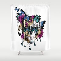 Flomo Shower Curtain by Kristy Patterson Design