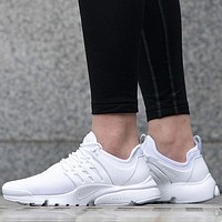 Nike Air Presto Ultra BR Breathe Wmns Triple White Sport Shoes Running Shoes - 896277-100