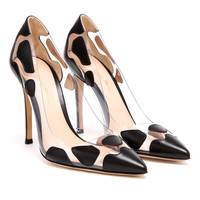 GIANVITO ROSSI | Spotted Leather and Perspex Pointed Pumps | Browns fashion & designer clothes & clothing
