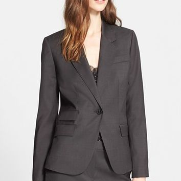 Women's Nordstrom Signature and Caroline Issa One-Button Wool Suiting Jacket