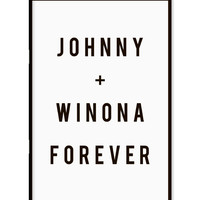 Johnny and Winona Forever Notebook