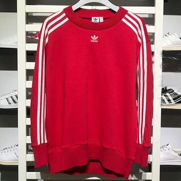 adidas Originals Womens Crew Sweater Sweatshirt - Radiant Red