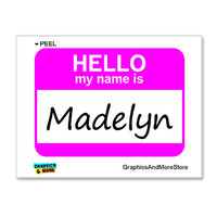 Madelyn Hello My Name Is Sticker