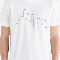 T-Post 110 Suburbs Vs City Tee- White