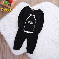 Cotton Newborn Baby Girl Boys Winter Clothes Long Sleeve Milk Romper Jumpsuit Playsuit Outfits Baby One-Piece Clothing