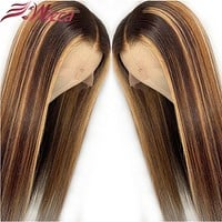 Wicca Highlight 13x6 Lace Front Human Hair Wigs W/Baby Hair 8-26 Inches Brazilian Remy