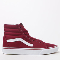 Vans Sk8-Hi Maroon & White Shoes at PacSun.com