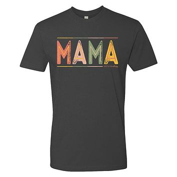 Southernology Statement Collection Mama Color Block Canvas T-Shirt
