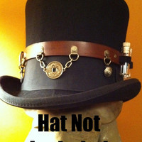 Leather Steampunk Top Hat Utility / Accessory Belt