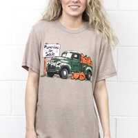 Pumpkins for Sale Vintage Truck Tee {Mocha}