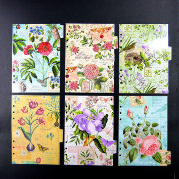 """Filofax dividers - """"There Are Always Flowers """""""