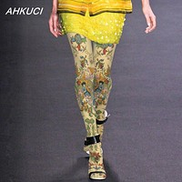Runway Statement Gothic and Bohemian Velvet Printed Pantyhose or Tights: 4 Styles