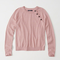 Womens Button Crewneck Sweater | Womens Tops | Abercrombie.com