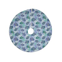 """Julia Grifol """"My Colorful Fishes"""" Blue Teal Tree Skirt"""