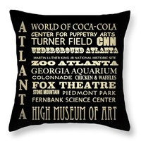 "Atlanta Georgia Throw Pillow 14"" x 14"""